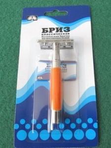 БРИЗ классическая бритва / классический станок для бритья, MIRBRITV.RU