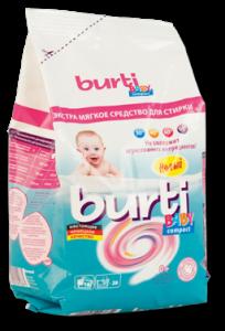 Burti Baby compact концентрированный порошок для стирки детского белья 900 г, MIRBRITV.RU