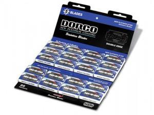 DORCO лезвия для бритья PLATINUM ST-300 (на карте 20 пачек), www.MIRBRITV.RU