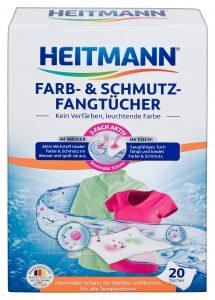 Heitmann Салфетки для предотвращения случайной окраски при машинной стирке 20шт, арт.3011, mirbritv.ru
