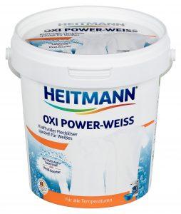 HEITMANN Oxi Power-Weiss Мощный пятновыводитель для белых тканей 750 г, арт.2832, mirbritv.ru