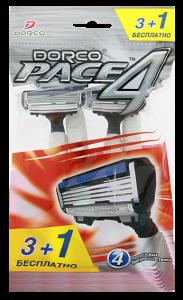 DORCO Pace 4 (3+1 бесплатно) станки для бритья одноразовые ДОРКО