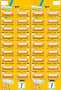 BIC 1 SENSITIVE бритвенный станок одноразовый, подвесная карта 36 шт., MIRBRITV.RU