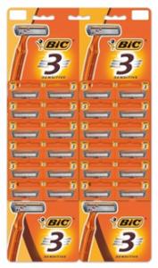 BIC 3 SENSITIVE бритвенный станок, упаковка 24 шт., MIRBRITV.RU