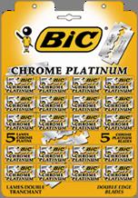 BIC PLATINUM лезвия на подвесной карте 20 пачек по 5 лезвий, MIRBRITV.RU