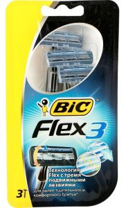 BiC 3 Flex станки для бритья одноразовые, упаковка 3 шт., mirbritv.ru
