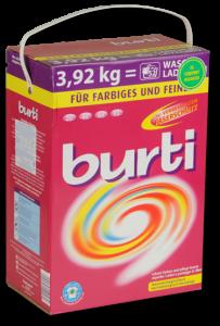Burti порошок для стирки цветного и тонкого белья 3,92 кг, MIRBRITV.RU