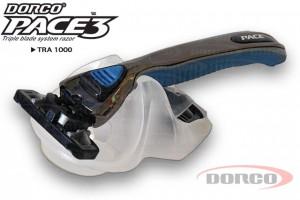 DORCO PACE3 бритвенный станок с 3 лезвиями на подставке DORCO TRA 1000, mirbritv.ru