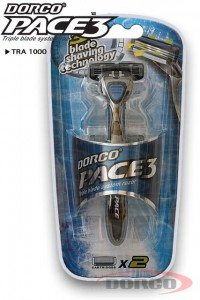 DORCO Pace3 станок для бритья (2 кассеты) 3 лезвия, DORCO TRA 1000, www.MIRBRITV.RU
