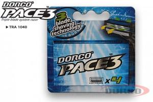 DORCO Pace3 кассеты для бритья (4 шт) 3 лезвия, DORCO TRA 1040, mirbritv.ru