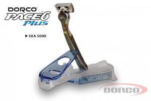DORCO PACE 6 Plus станок для бритья, 6 лезвий + 1 лезвие-триммер на подставке, DORCO SXA 5000, mirbritv.ru