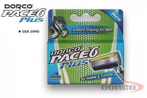 DORCO PACE 6 PLUS (4 шт) кассеты, 6 лезвий + 1 лезвие-триммер DORCO SXA 5040, MIRBRITV.RU