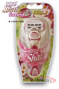 DORCO SHAI 3+3 Sweetie женский бритвенный станок с 6 лезвиями DORCO LSXA 1000, MIRBRITV.RU