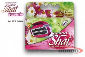 DORCO SHAI 3+3 Sweetie женские кассеты с 6 лезвиями DORCO LSXA 1040, MIRBRITV.RU