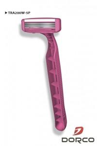 DORCO TRA 200 W женский одноразовый станок для бритья, 3 лезвия, плавающая головка, увлажняющая полоса, www.MIRBRITV.ru