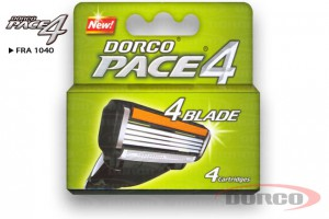 DORCO PACE 4 (4 шт) кассета для бритья, 4 лезвия, DORCO FRA 1040, www.MIRBRITV.RU