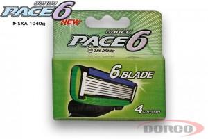 DORCO PACE 6 (4 шт) кассеты для бритья, 6 лезвий, DORCO SXA 1040 g, www.MIRBRITV.RU