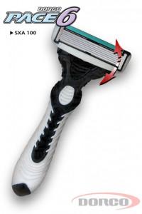 DORCO PACE 6 одноразовый станок для бритья, 6 лезвий, плавающая головка, увлажняющая полоса, резиновое покрытие ручки, DORCO SXA 100, www.MIRBRITV.ru