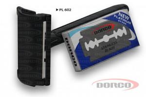 DORCO PL602 Классический бритвенный станок, DORCO лезвия Platinum, mirbritv.ru