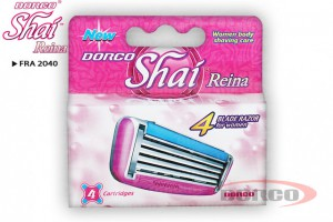 DORCO SHAI 4 Reina женские кассеты с 4 лезвиями DORCO FRA 2040, MIRBRITV.RU