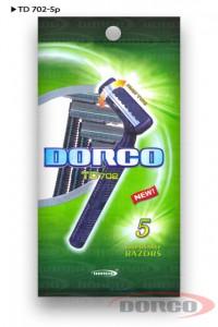 DORCO TD 702 одноразовые станки (5 шт) 2 лезвия, плавающая головка, mirbritv.ru