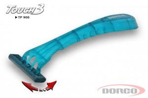 DORCO Touch 3 одноразовый станок, 3 лезвия, плавающая головка, увлажняющая полоска с алоэ, DORCO TP 900, www.MIRBRITV.RU