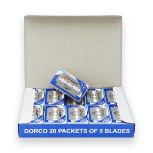 DORCO лезвия для бритья ST-300, блок 20 пачек по 5 лезвий, MIRBRITV.RU