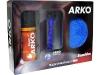 Подарочный набор ARKO. Содержит пену для бритья, станок System3 и полотенце