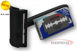 DORCO PL 602 классический двусторонний станок, DORCO лезвия Platinum ST300, mirbritv.ru
