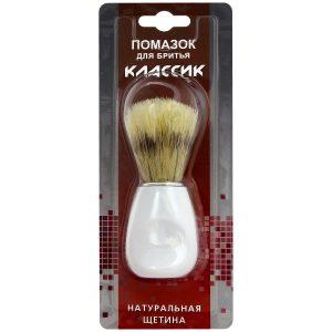 Помазок для бритья КЛАССИК, натуральная щетина, mirbritv.ru